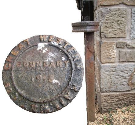 Picture of Circular Cast-Iron Ground Post - Great Western Railway Boundary Marker.